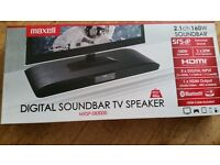 Brand New Sealed Box Maxell MXSP -SB3000 160w Digital Soundbar TV Speaker Bluetooth Surround Sound