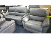 SCS BROWN QUALITY LEATHER 3+1+1 SEATER STATIC