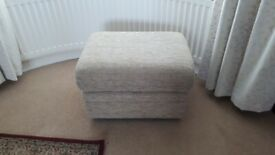 Pouffe foot stool with storage
