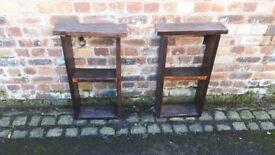 2 bed side tables / shelves