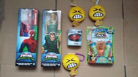 Toys Spiderman etc all for just £10