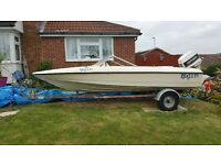 14 Ft Fletcher speedboat, Rapid trailer and Johnson 60 out board and tow-able doughnut