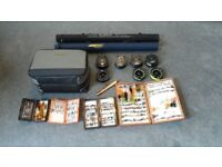 complete fly fishing kit, rods ,reels ,bag , lines , over 500 new quality flies all new