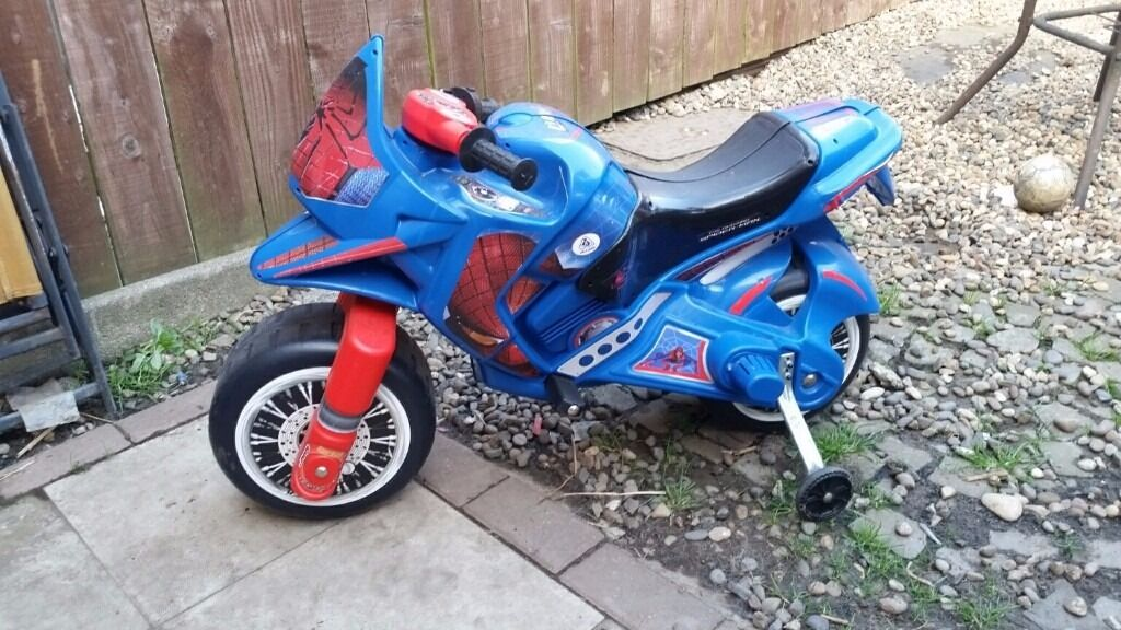 Electric Spiderman Motor Bike Very Good Condition In