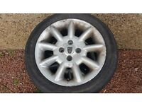 "MG, ROVER 200 25 45 - 15"" 4 X ALLOY WHEELS & TYRES"