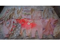 2 set of clothes for baby girl (0-6 months)