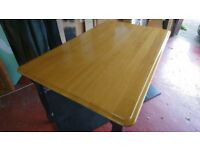 Kitchen Table & 6 Chairs - Polished wood, renewable sources, could deliver locally by arrangement