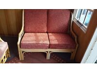 Bamboo conservatory sofa + 2 chairs