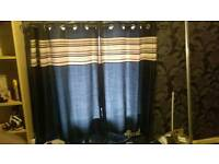 Black curtains width and drop 140cm