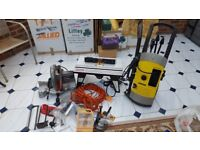 Karcher Pressure Washer - Ryobi Router and Table - 10 Inch Compound Mitre Saw - US POWER