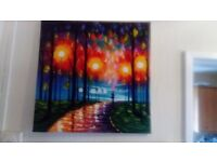 Framed Canvass Painting 4 in total just £15