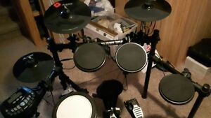 Alesis electronic drum set with Ludwig bass kicker
