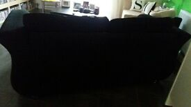 Black 3 seater sofa. vgc, like new. collection Mitcheldean. £120 ono.
