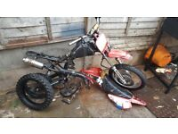 Pitbike pit bike rolling frame chassis complete