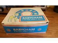 Box of 6 babycham glasses