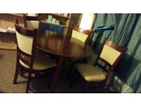 Mahogany Extending table with 4 chairs