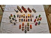 Collection of Matchbox Lesney Vintage Toy Cars and Vehicles