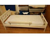 IKEA Childrens Bed KRITTER with mattress and guard rail
