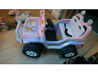 Electric 12v 2 seater 4x4 jeep Pink rrp £395
