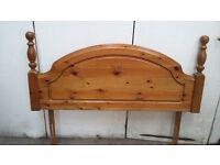 Solid Pine Four Foot Bed Headboard
