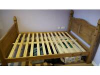 Solid wooden frame bed 6x4