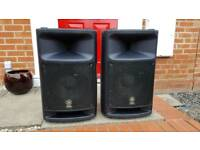 Yamaha MSR 400 active PA speakers