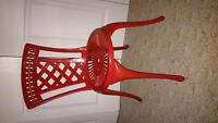 Red Metal Chair x4