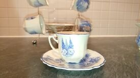 "Myott Son and Company China coffee set Blue "" Homeland """