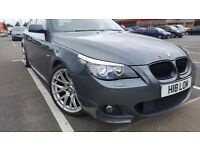 BMW 525d MSPORT 2009 (E60) in dark grey metalic, semi automatic in excellent condition inside & out