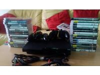 PS 3 slim with 30 games