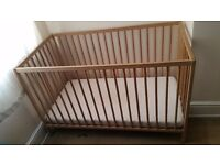 Cot bed with mattress and adds