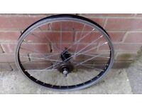BMX rear wheel. One gear alloy