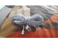 10 METRE TELEPHONE EXTENSION LEAD CABLE