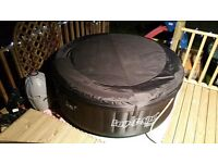 BEST WAY LAZY SPA MIAMI COMPLETE +HEATER+LID+TABLETS+FILTERS