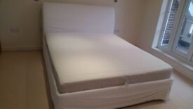 Ikea Sultan Super King Headboard, Bed and Mattress
