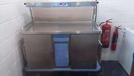 Colston Hostess Trolley for chilled food regeneration, hot plate/lamps, 3 phase power