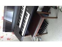 YAMAHA ORGAN/PIANO INCLUDING STOOL.
