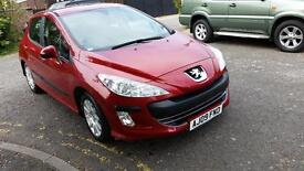 PEUGEOT 308 1.6 HDi 90 Verve 5dr (red) 2009