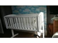 Mothercare crib, matress and bedding