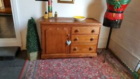 Gorgeous antique Victorian solid pine sideboard
