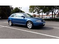AUDI A3 1.9TDI 130KM 6 GEARBOX. YEAR OF PRODUCTION 2002. VERY GOOD CONDITION,MOT MAY 2017