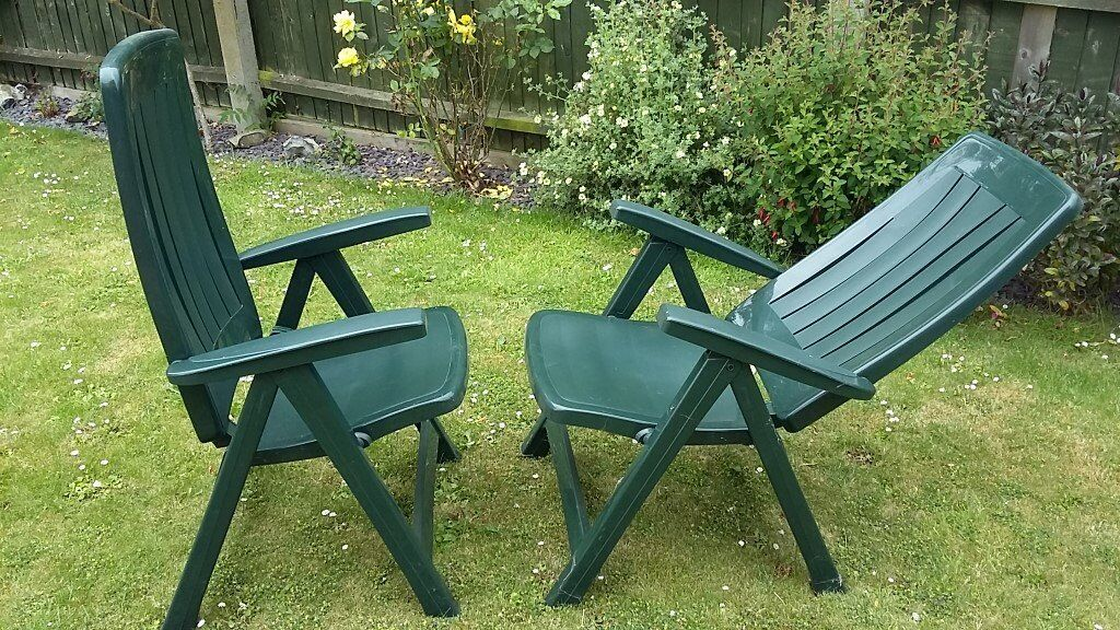 Plastic Reclining Garden Chairs In Spalding