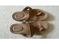 Timberland Earthkeeper leather tan women's sandals size 6/39