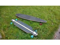 Crane long board - longboard - for sale (blue wheels) - Reduced!