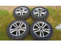 Genuine 20inch Audi Alloys Wheels with Brand New Pirelli Tyres 285/45 R20 112Y