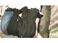 Job lot maternity clothes including jeans and a swimming costume