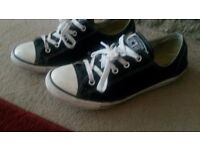RRP £45 ladies size 6 converse ox dainty in black