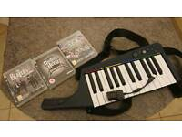 PS3 Rock Band 3 keyboard & accs