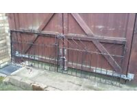 Heavy, quality wrought iron driveway gates - just under 9ft wide