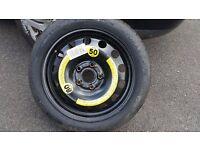 Audi A3 8P VW Golf Mk5 Seat Leon MK2 Hankook Space Saver Wheel Tyre T125/70/R16